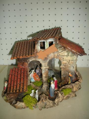 Presepe terracotta a casetta il faro presepi - Presepi fatti in casa ...